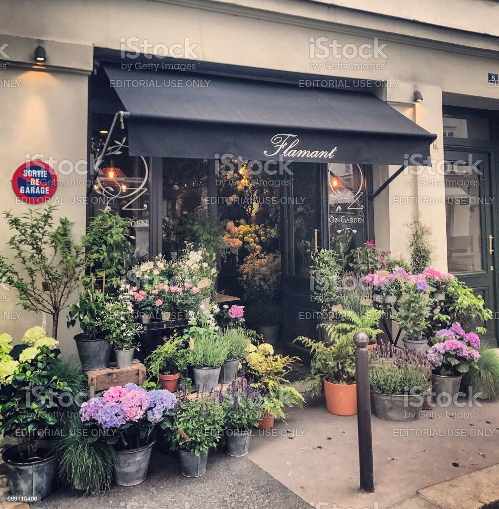 Blumenladen in Paris, Frankreich – Foto