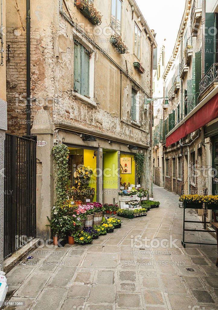 Flower Shop in Venice stock photo