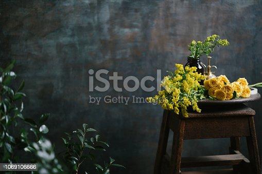 Flower shop, no people
