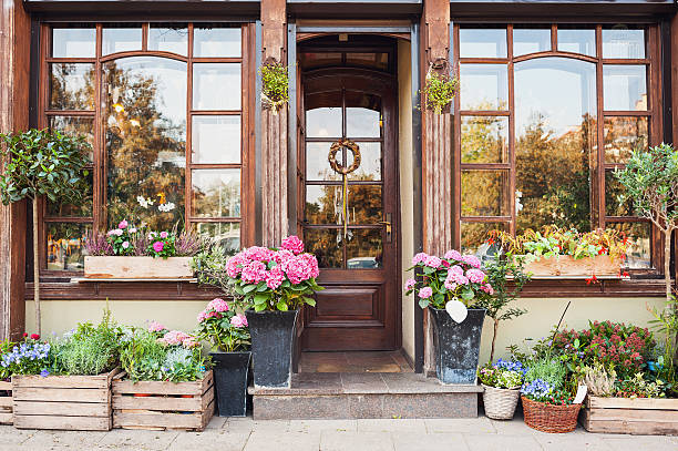 flower shop - country fashion stock photos and pictures