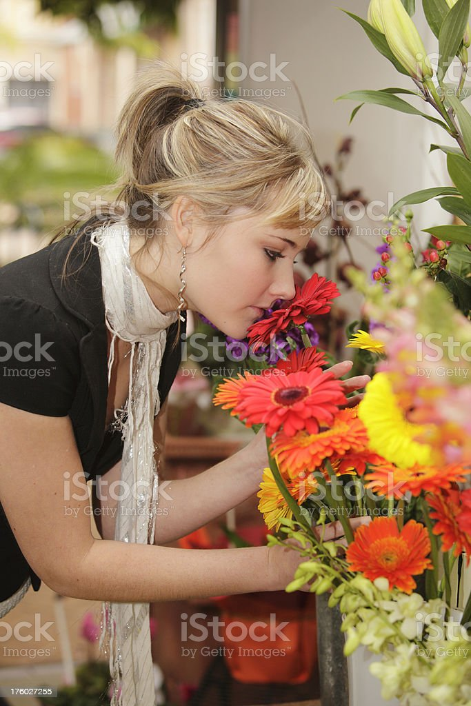 Flower Shopping royalty-free stock photo