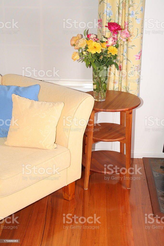 flower sofa stock photo