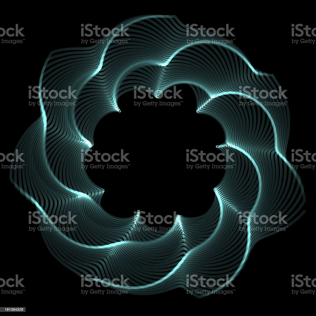 Flower spirograph pendulum photo royalty-free stock photo
