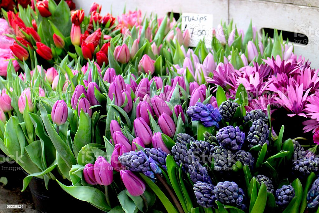 Flower stall royalty-free stock photo