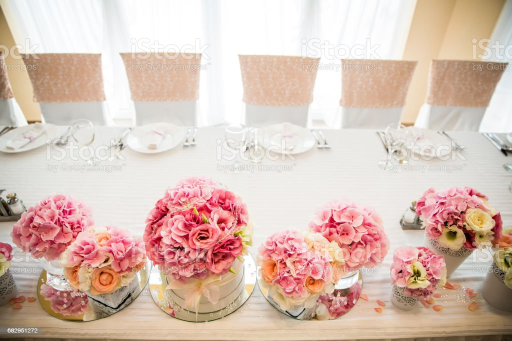 Flower table wedding decoration royalty-free stock photo