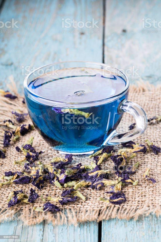 Flower tea of Butterfly pea stock photo