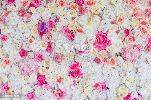 istock Flower texture background for wedding scene 1132878281