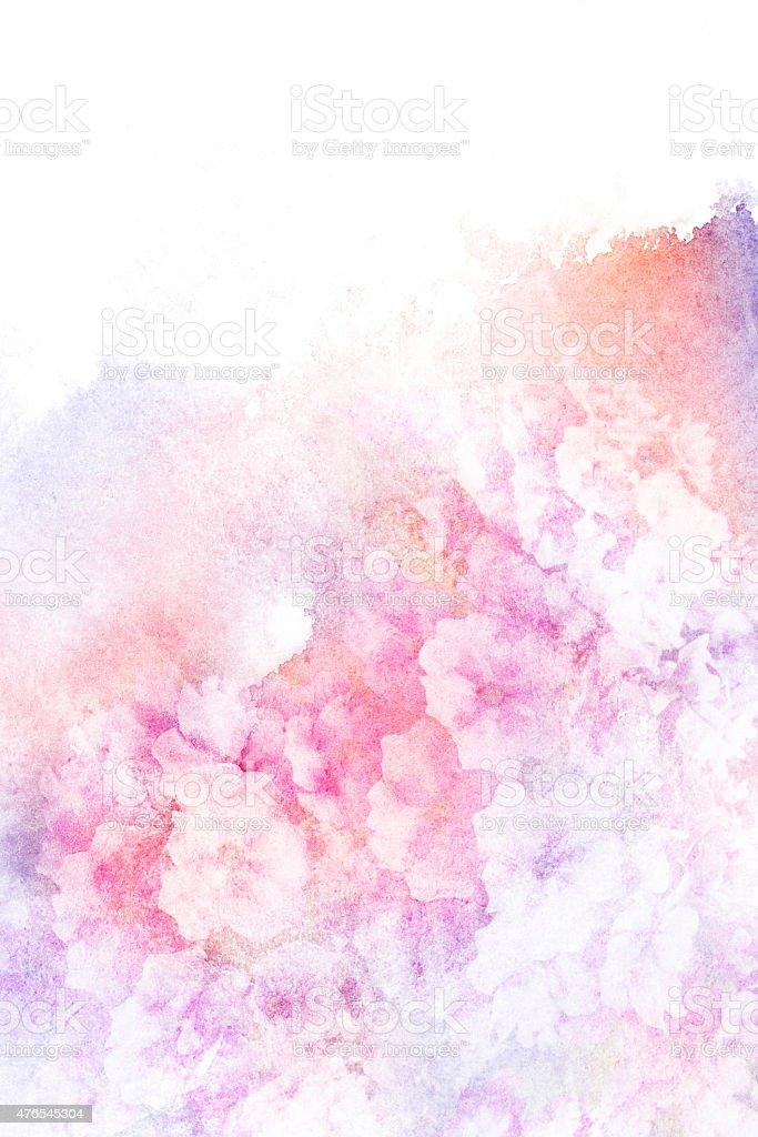 Blume Aquarell illustration. – Foto