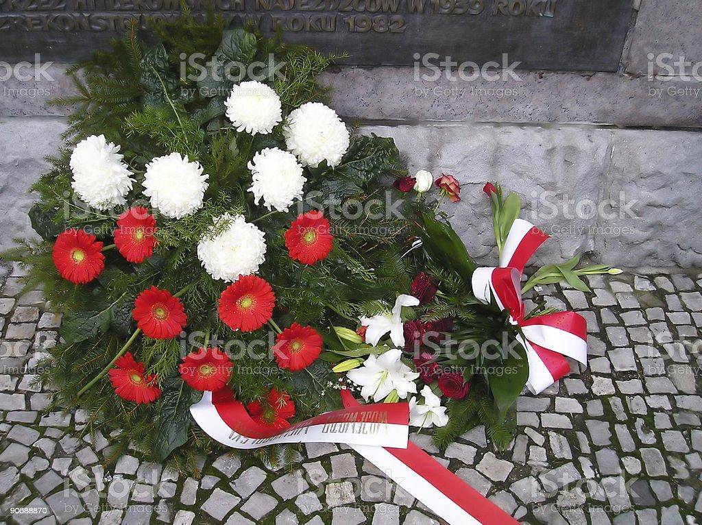 flower wreath stock photo
