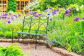 Garden in wonderful colors