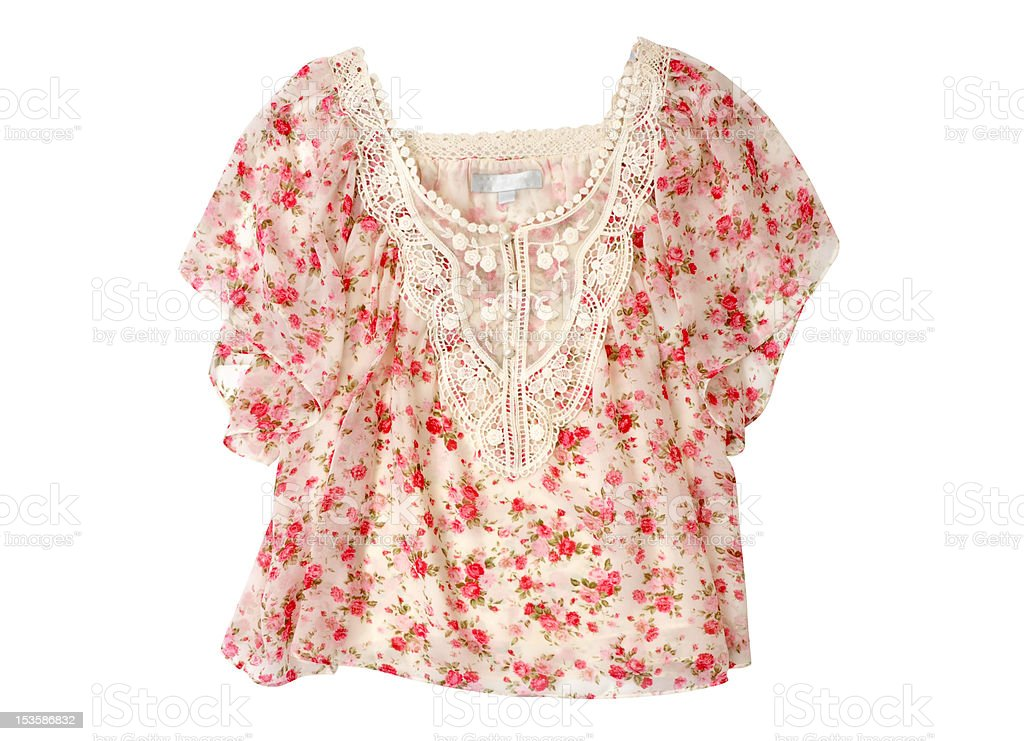 Flowered Blouse royalty-free stock photo