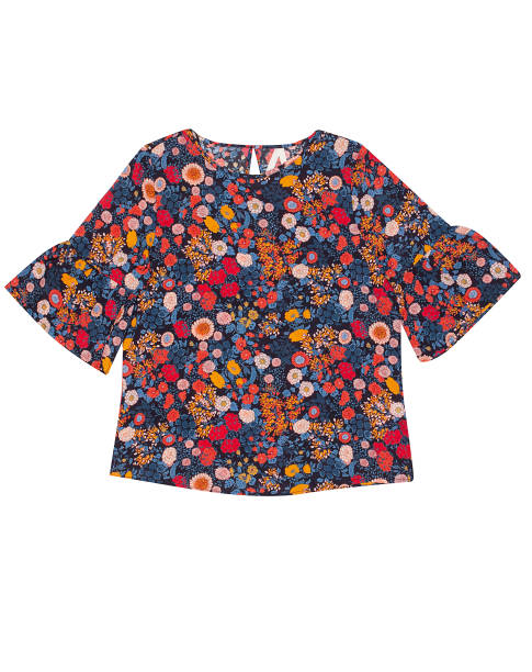 Flowered Blouse Flowered Blouse isolated on white background blouse stock pictures, royalty-free photos & images