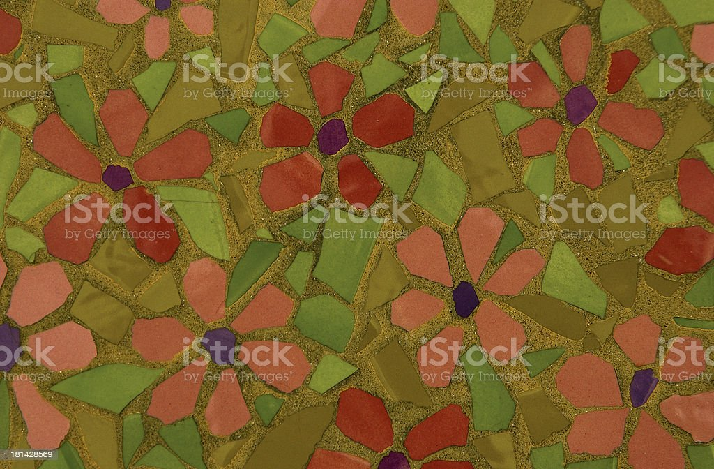 Flowered tiles stock photo