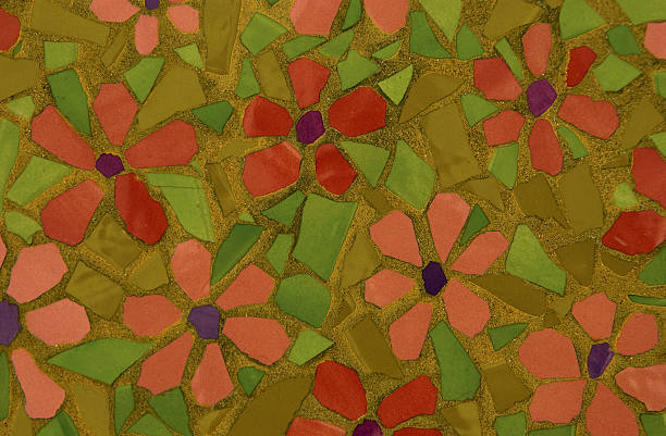 Flowered tiles stock photo