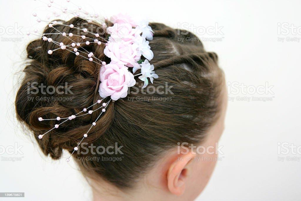 Flowergirl Hair royalty-free stock photo