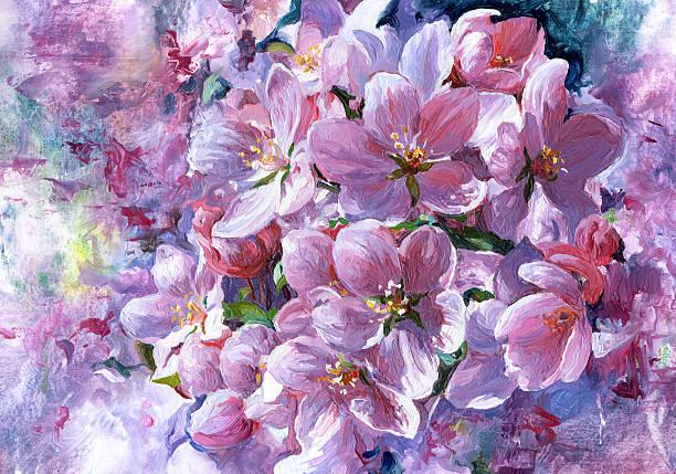flowering. - yağlı boya resim stok fotoğraflar ve resimler
