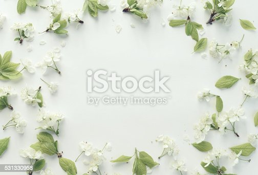 612015846 istock photo flower,petals and leaves, composition flat lay 531330958