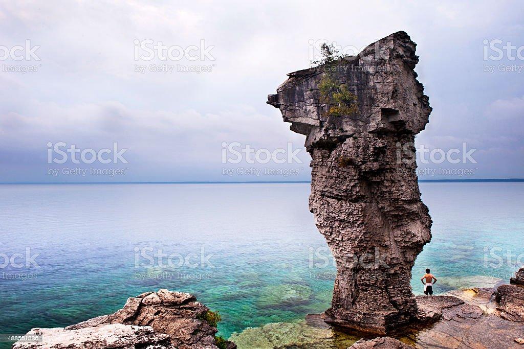 Flowerpot Island stock photo