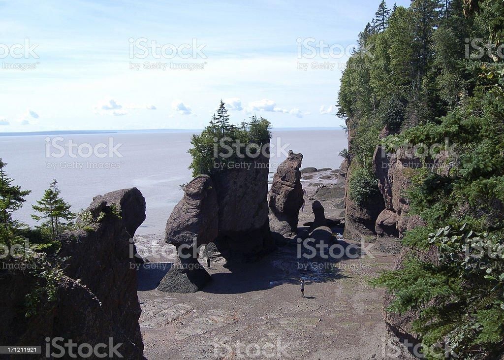 Flowerpot Rocks stock photo