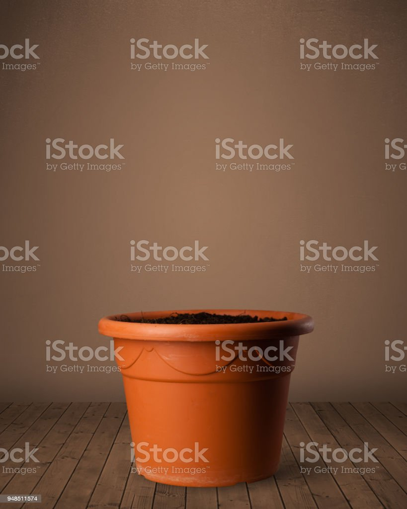 Flowerpot with copy space stock photo
