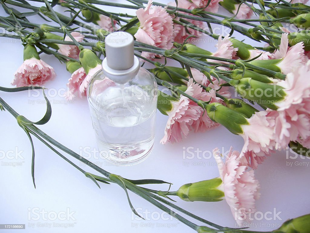 Flowers and Perfume royalty-free stock photo