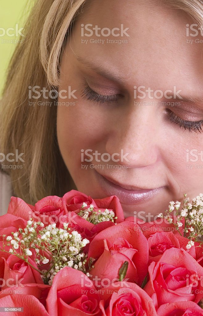 Flowers and woman royalty-free stock photo