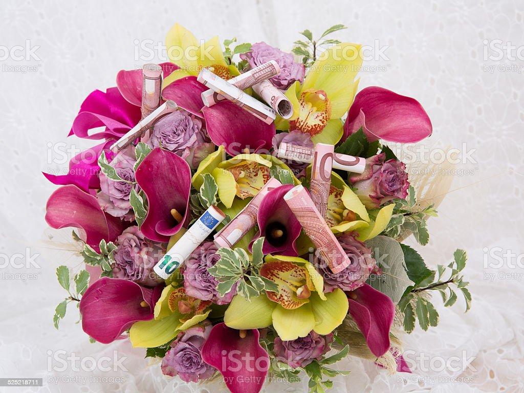 Flowers arrangement with money stock photo more pictures of flowers arrangement with money royalty free stock photo izmirmasajfo
