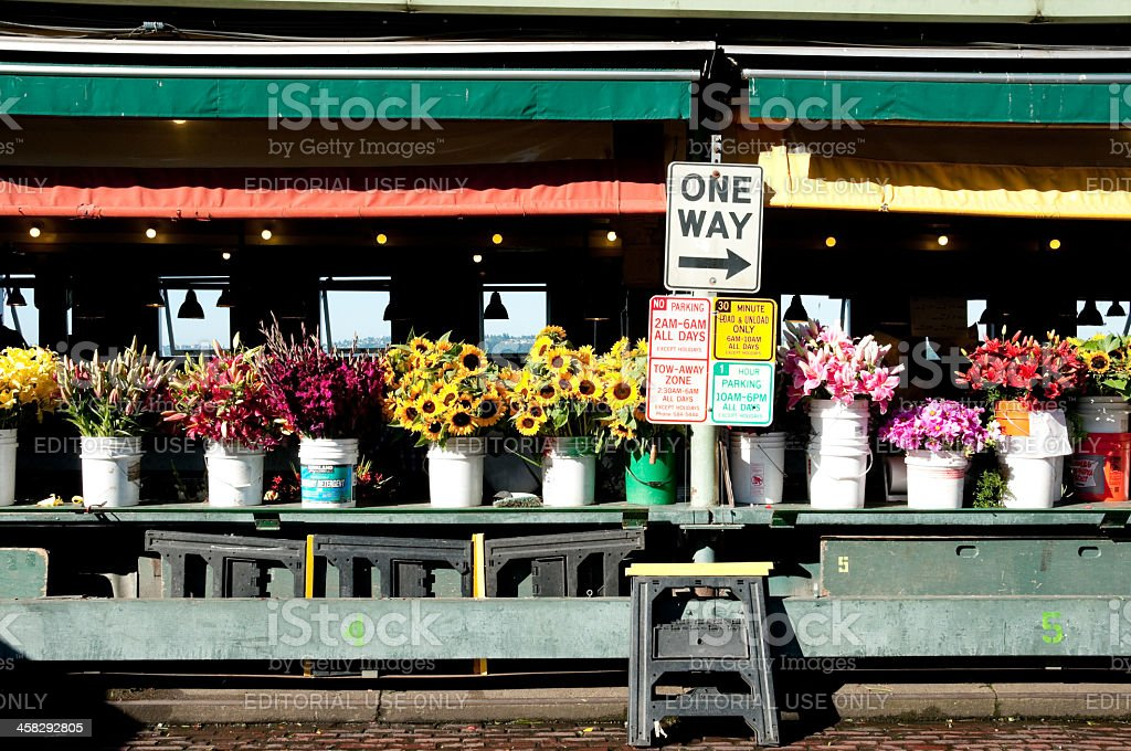 Flowers at Pike Place Market royalty-free stock photo