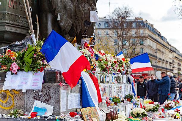 fleurs sur la place de la république - république photos et images de collection