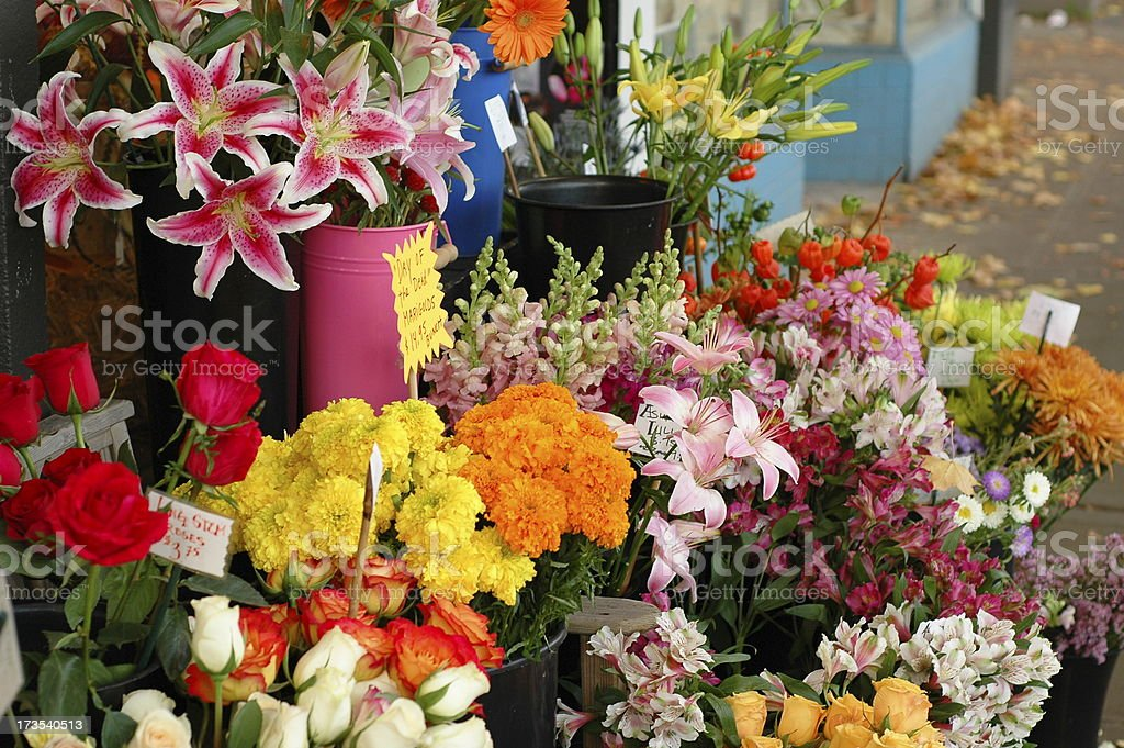 Flowers at the Florist royalty-free stock photo