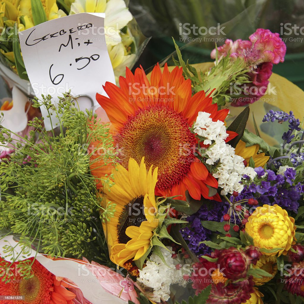 Flowers at the Market royalty-free stock photo