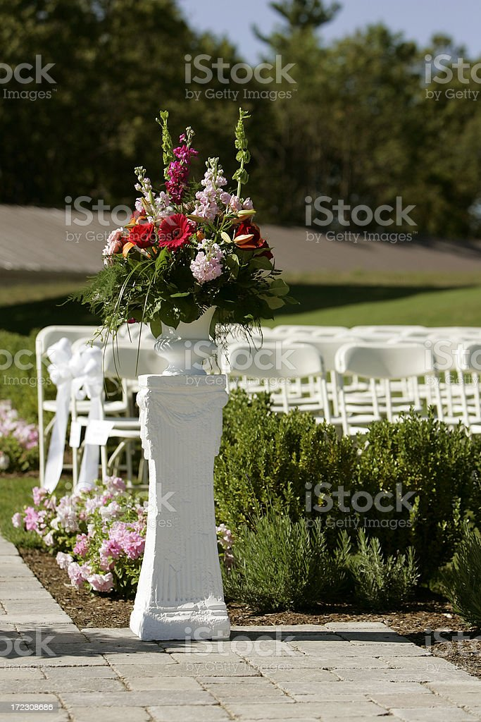 Flowers at wedding royalty-free stock photo