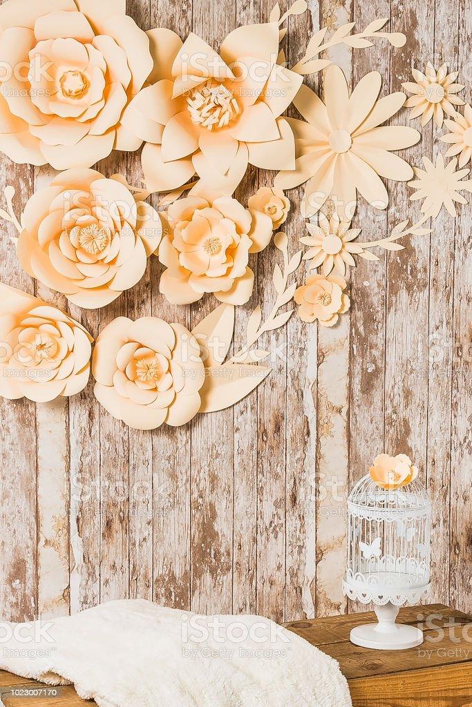 Flowers background photo wall stock photo