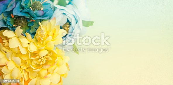 Flowers with copy space