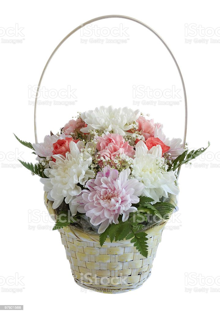 flowers basket royalty-free stock photo