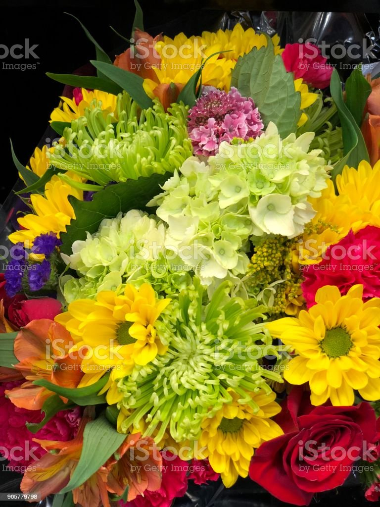 Bloemen levering winkel - Royalty-free Alleen volwassenen Stockfoto