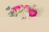 istock Flowers flat lay composition 992394878