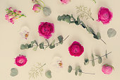 istock Flowers flat lay composition 992395022