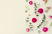 istock Flowers flat lay composition 992395080