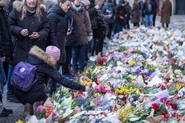 Flowers for Prince Henrik, Denmark stock photo