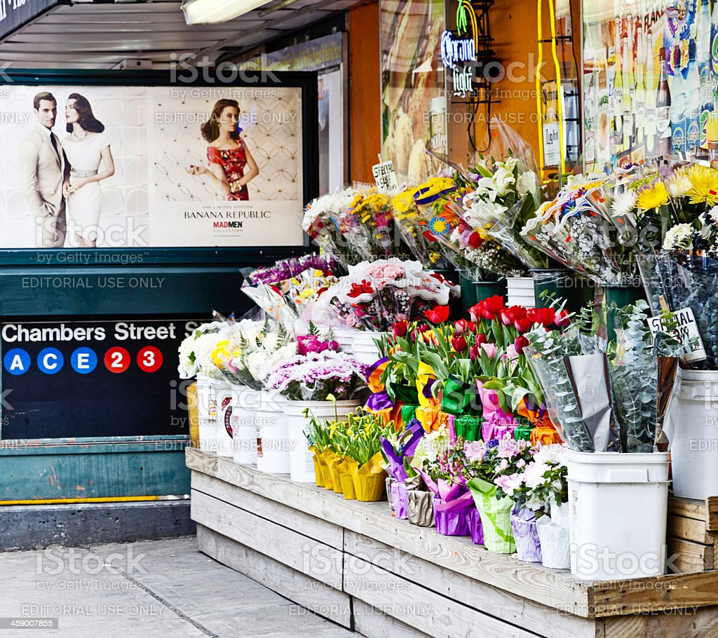 Flowers for Sale in NYC stock photo