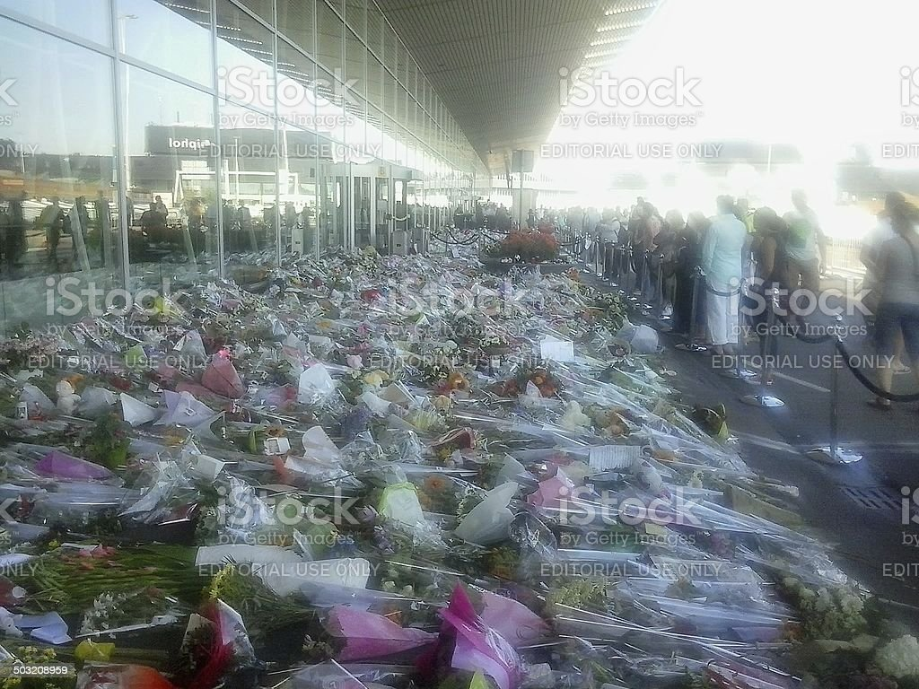 Flowers for some killed in plane crash 2 royalty-free stock photo