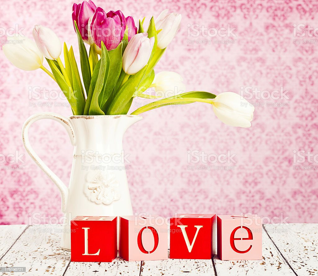 Flowers for Valentine's Day royalty-free stock photo