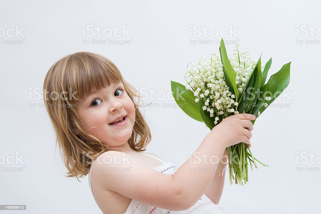 flowers for you, mum! royalty-free stock photo