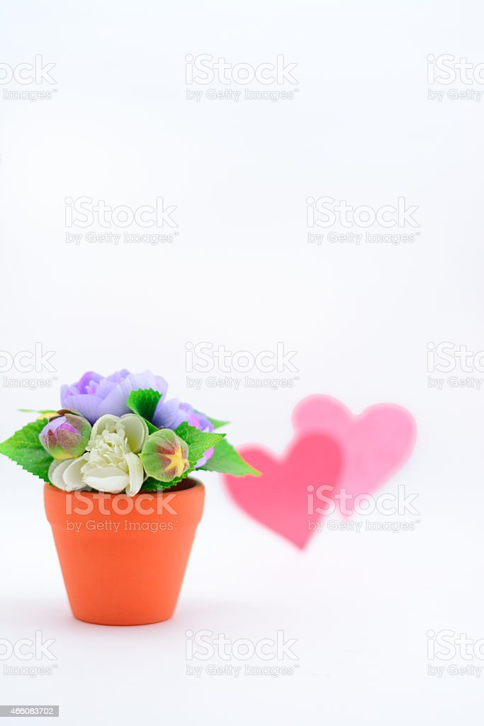 Flowers & Hearts stock photo
