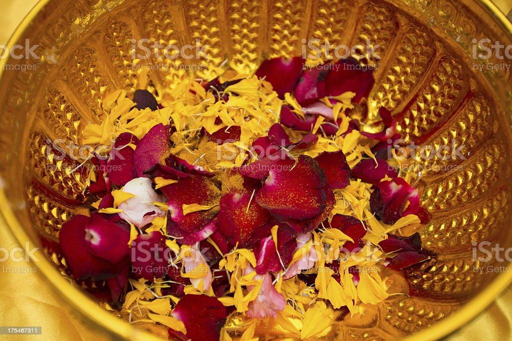 Flowers in a bowl. royalty-free stock photo