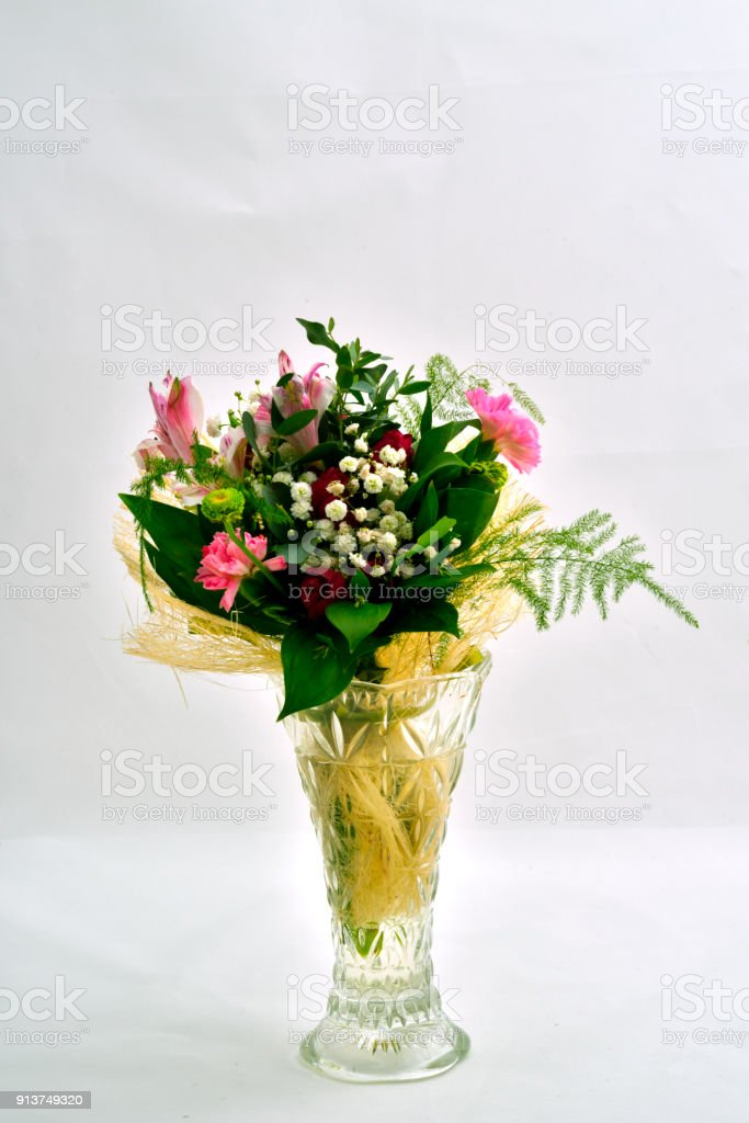 Flowers In A Glass Vase Stock Photo Istock