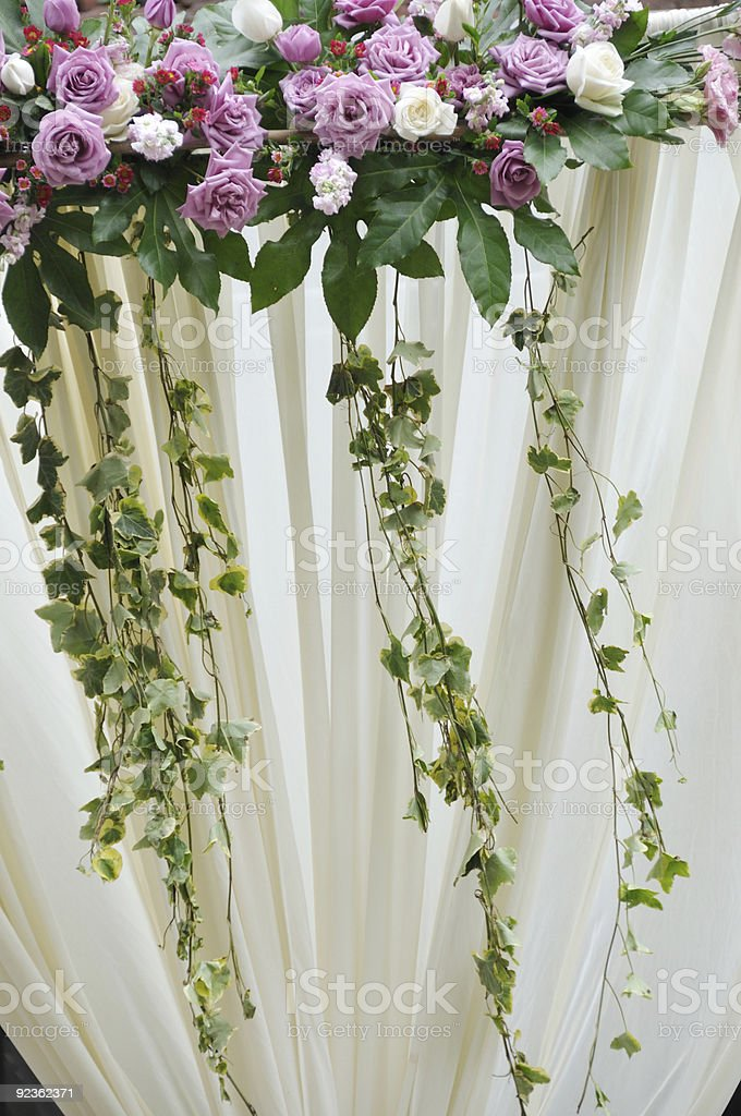flowers in a wedding royalty-free stock photo