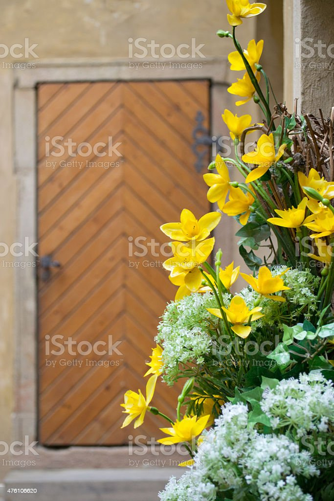 Flowers in a Yard stock photo