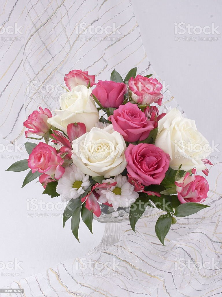 Flowers in bowl royalty-free stock photo